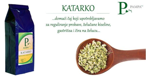 Katarko biljni čaj za ubalažavnje želučanih tegoba