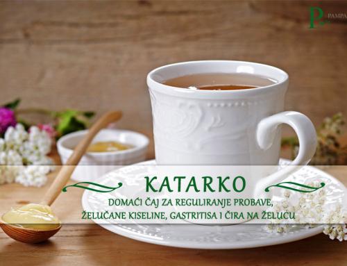 Predstavljamo: KATARKO – domaći čaj za reguliranje probave, želučane kiseline, gastritisa i čira na želucu