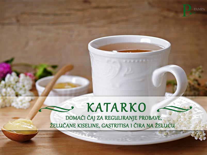 Biljni čaj katarko. Čaj za reguliranje probave gastritisa i čira na želucu